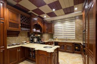 大户型中式风格装修厨房布局图