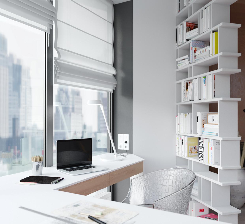 单身公寓装修书房设计图