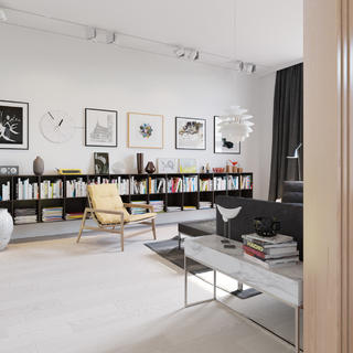 單身公寓裝修客廳設計圖