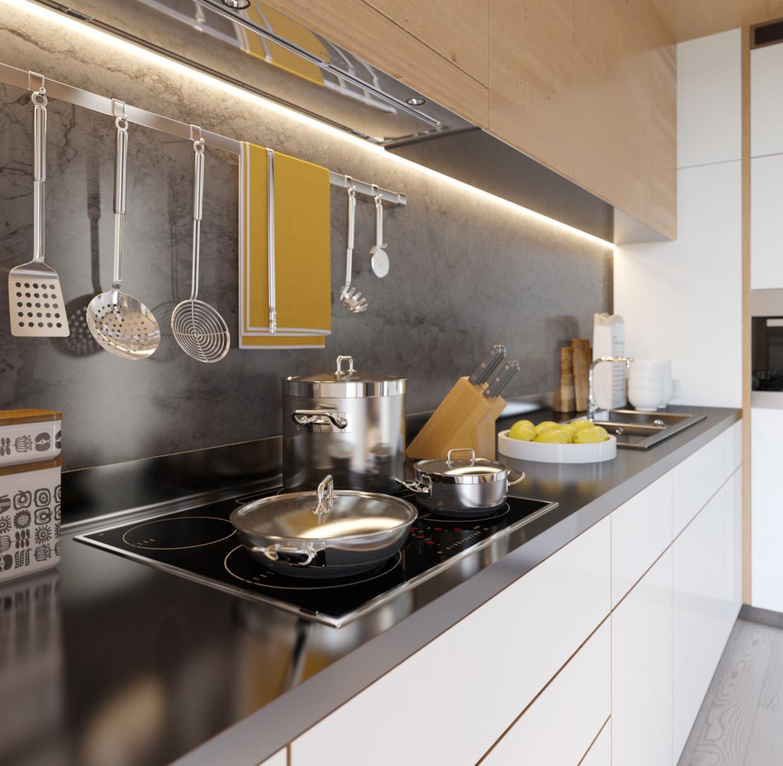 单身公寓装修厨房布置图