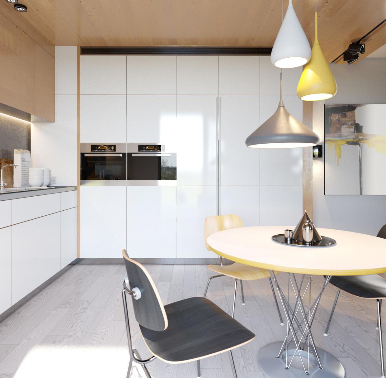 单身公寓装修餐厅效果图