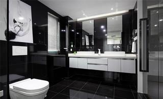黑白极简装修洗手台设计