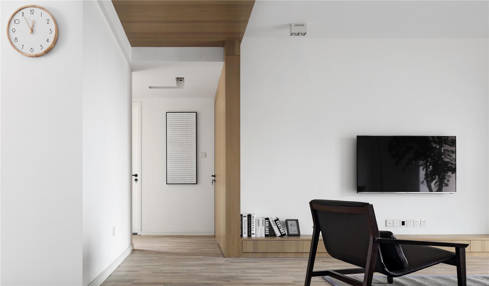 极简二居装修电视背景墙图片