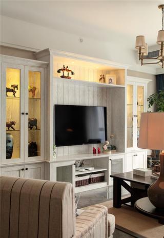 120平美式风格家电视柜组合