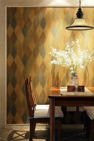 美式风格二居餐厅背景墙图片