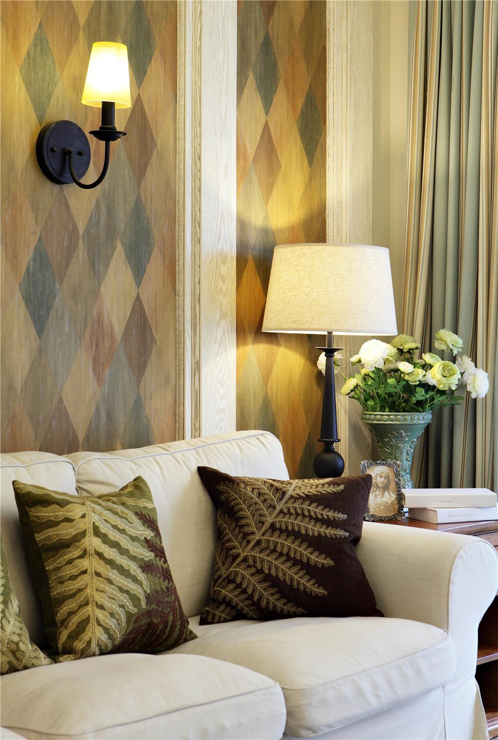 美式风格二居沙发背景墙图片