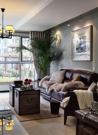 美式风格三居室装修沙发图片