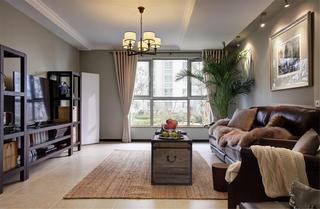美式风格三居室装修客厅设计图