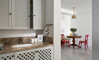 90平美式二居装修洗手台图片