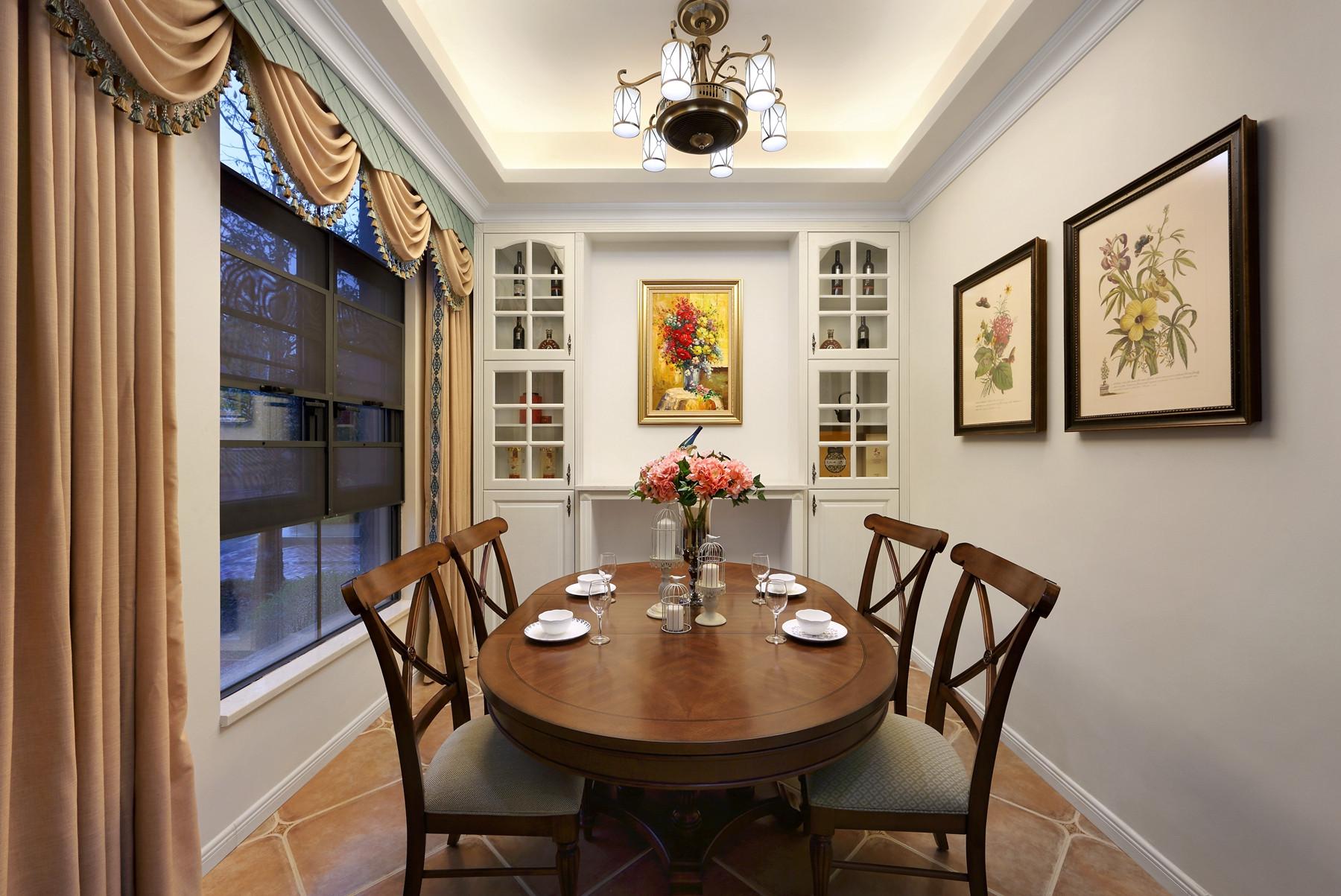 美式别墅装修餐厅布置图