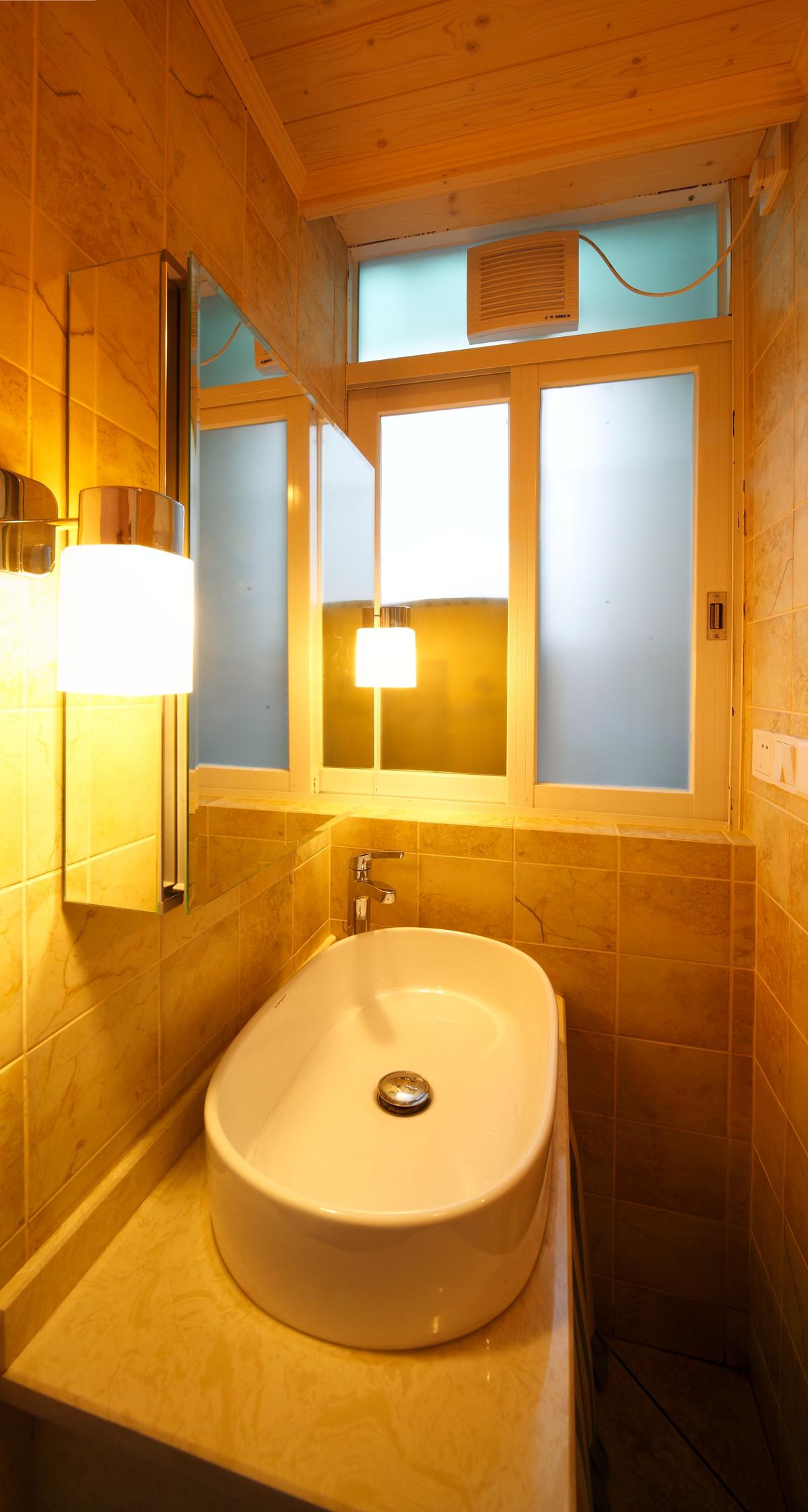 67平简约美式二居装修洗手台图片
