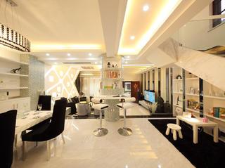 现代复式装修餐厅效果图