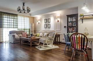 美式风格三居客厅设计图