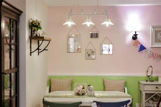 美式风格三居设计餐厅背景墙图片