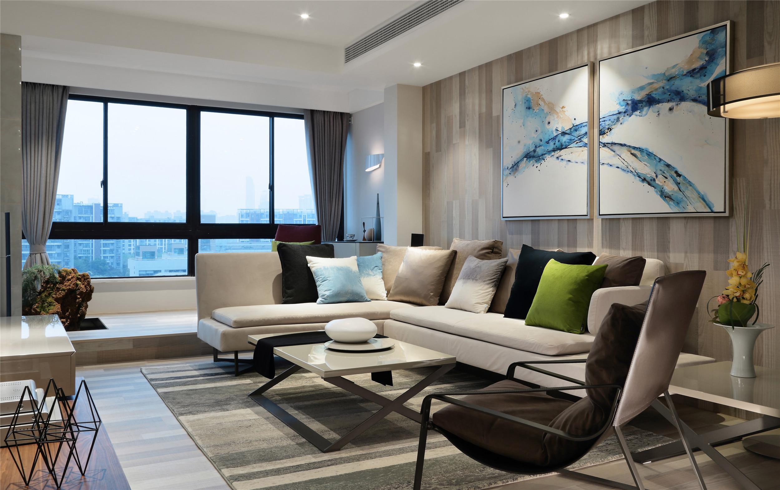 跃层公寓装修客厅效果图
