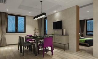 跃层公寓装修餐厅设计图