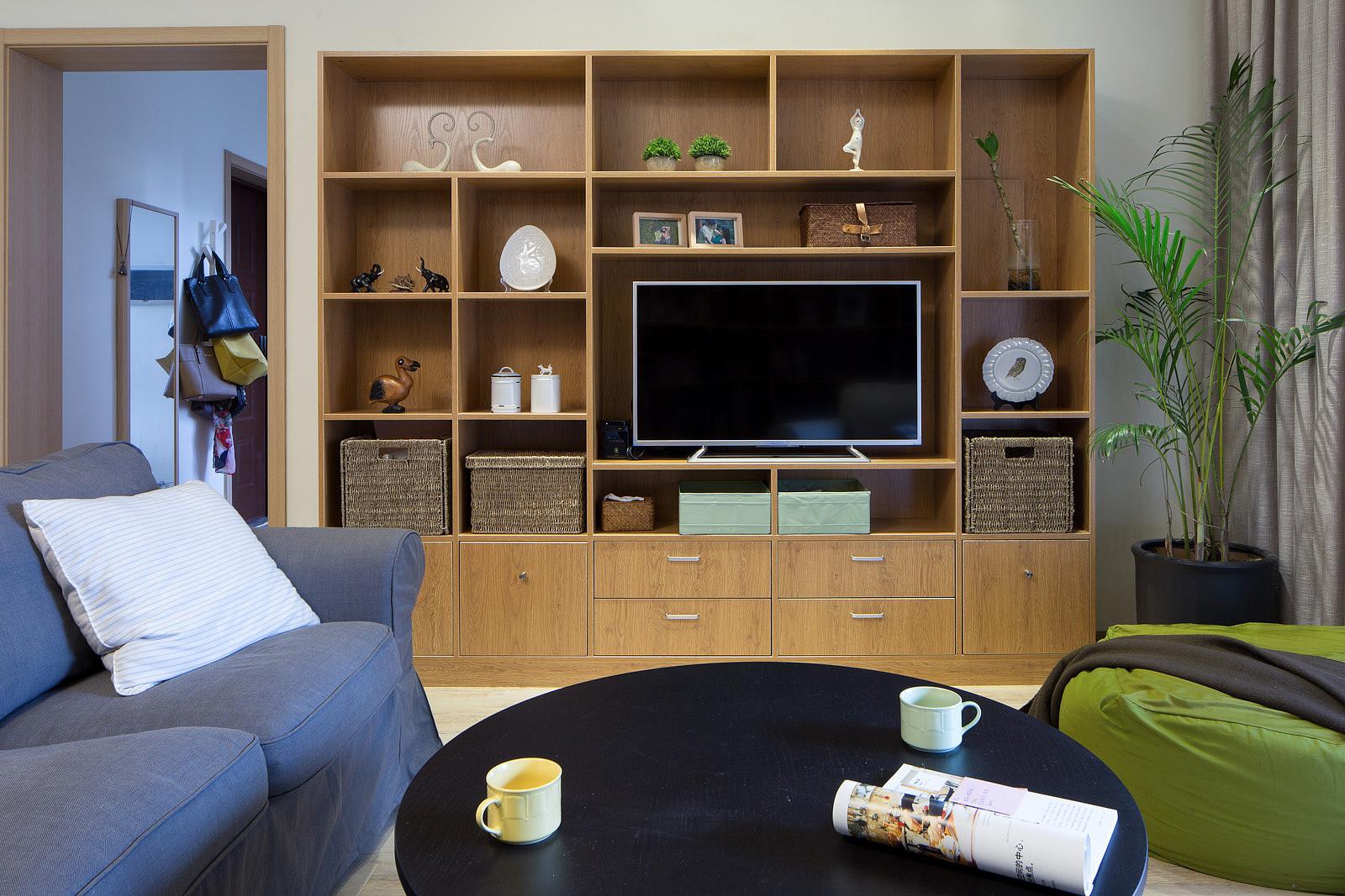 132平MUJI风格家电视墙设计