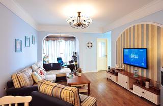 地中海风格二居客厅设计图