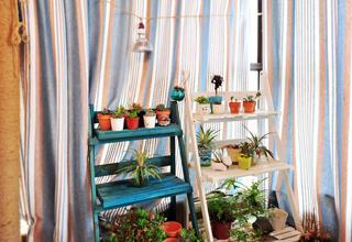 地中海风格二居阳台布置图