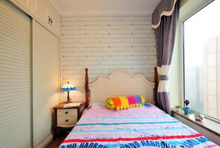 地中海风格二居儿童房设计图