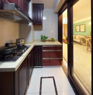 86平混搭二居装修厨房布局图