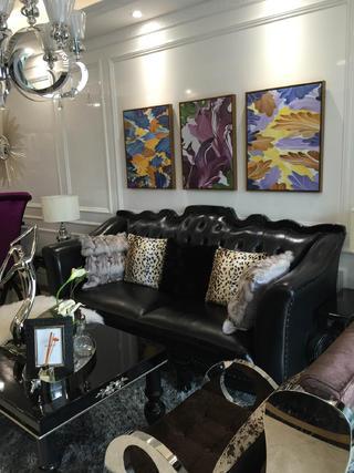 80平新古典样板房装修沙发图片
