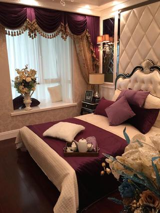 80平新古典样板房装修卧室设计图