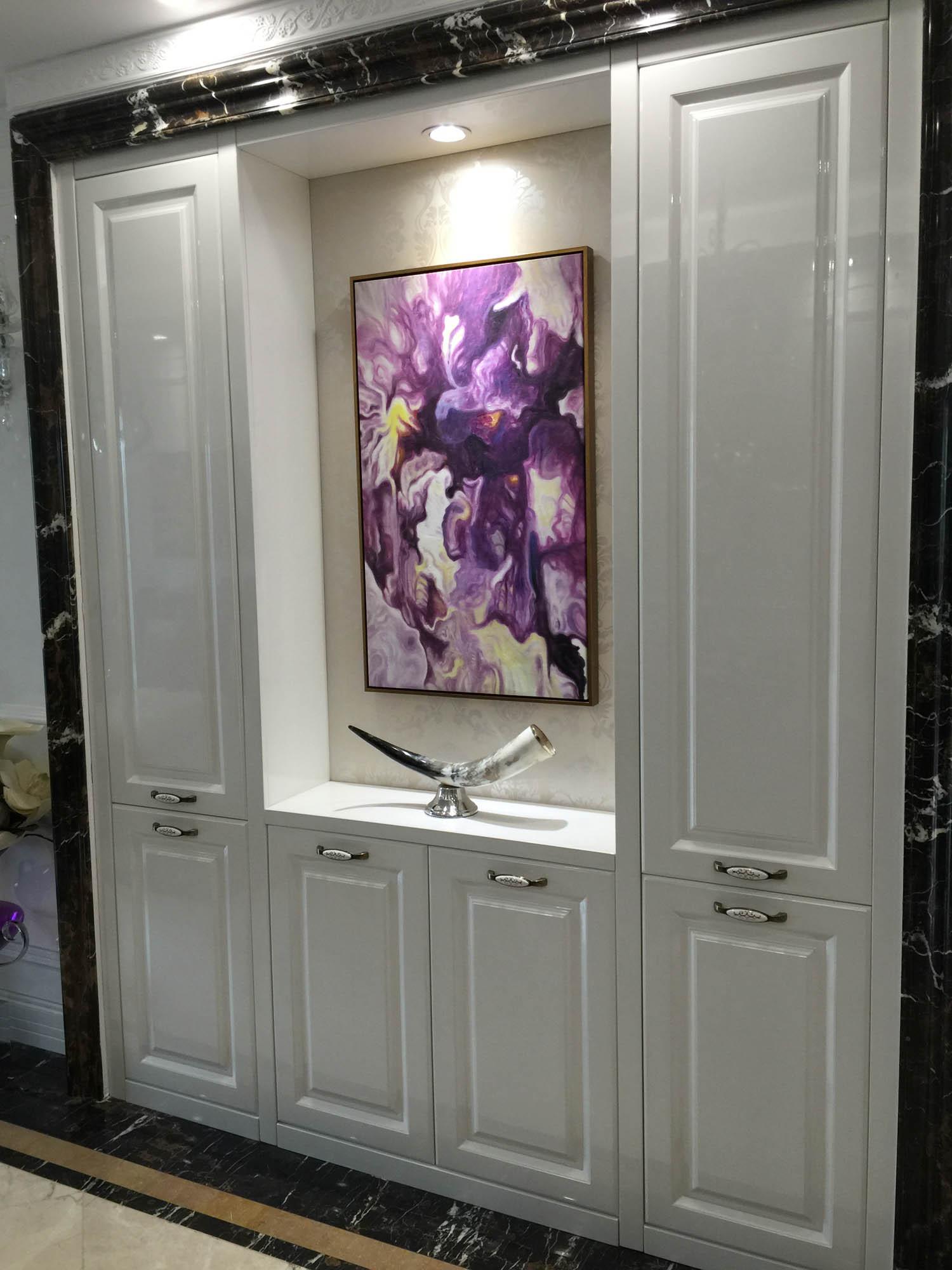 80平新古典样板房鞋柜设计