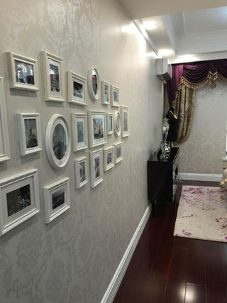 80平新古典样板房装修照片墙