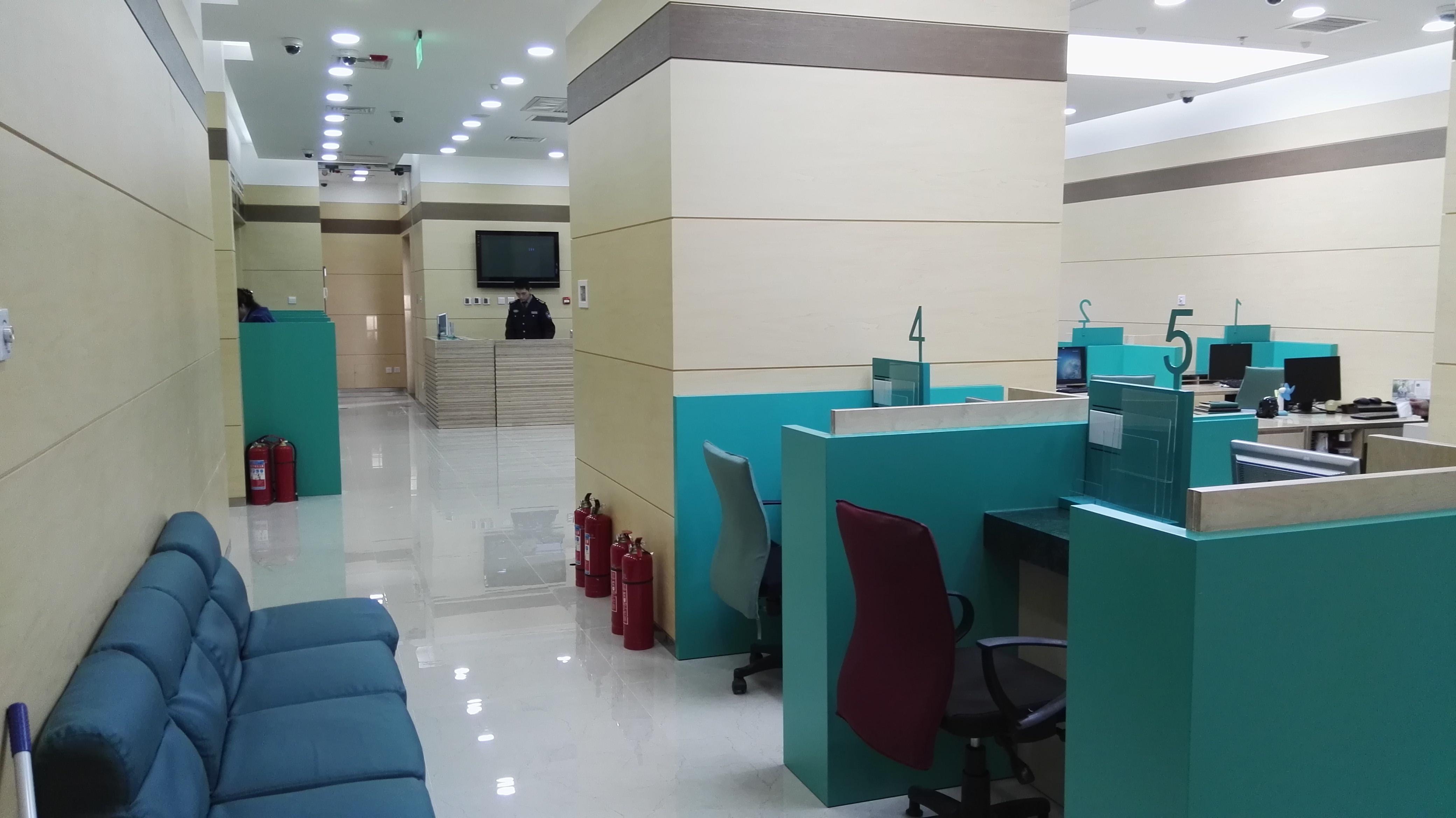 银行室内装修办事柜台