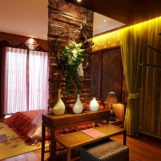 东南亚风格二居设计 热带风情