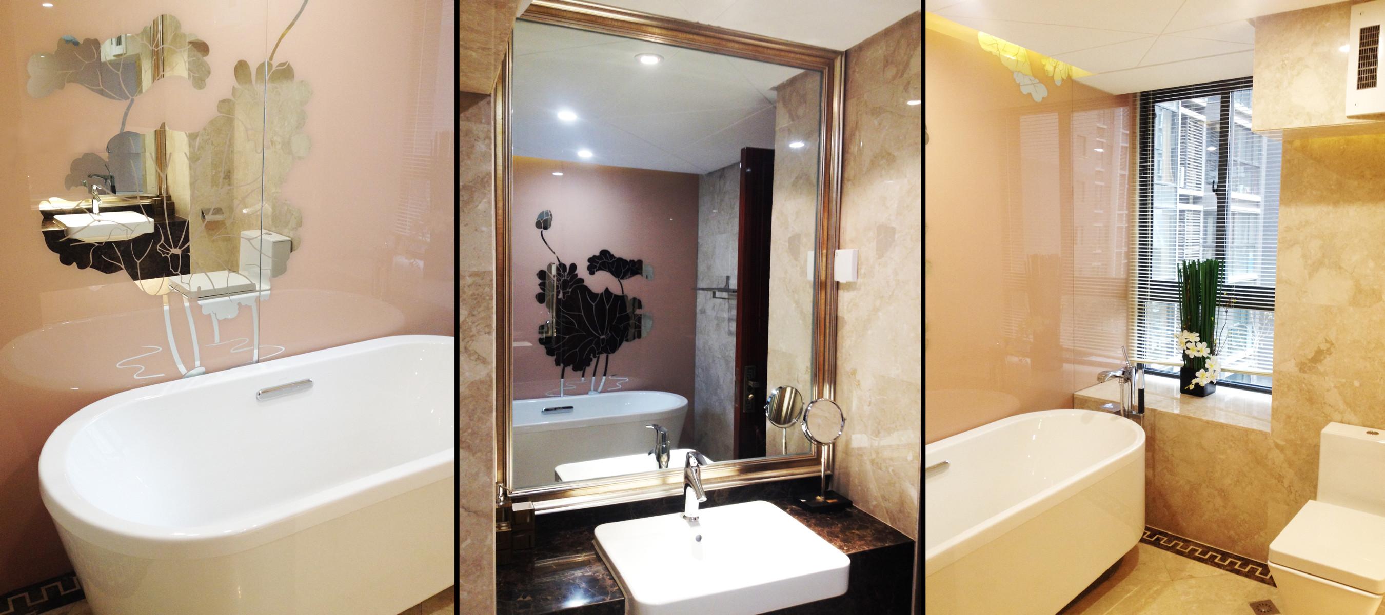 大户型中式后现代装修浴缸设计
