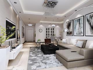 现代简约二居装修沙发图片