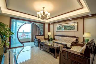 中式风公寓装修沙发背景墙图片