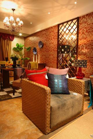 东南亚风格装修沙发椅图片