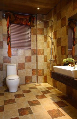东南亚风格装修卫生间装潢图