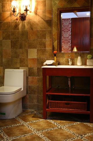 东南亚风格装修洗手台设计
