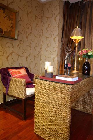 东南亚风格装修书桌椅子图片