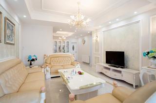 88平欧式风格家客厅搭配图