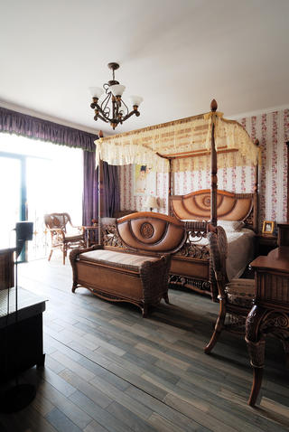 古典美式别墅卧室设计图
