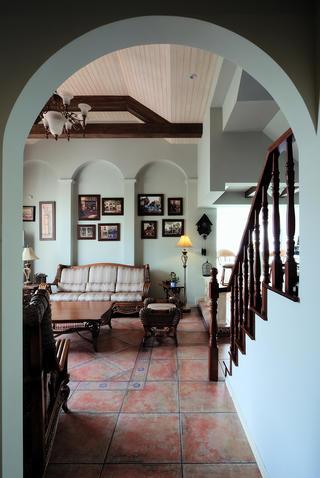 古典美式别墅照片墙