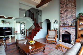 古典美式别墅壁炉设计