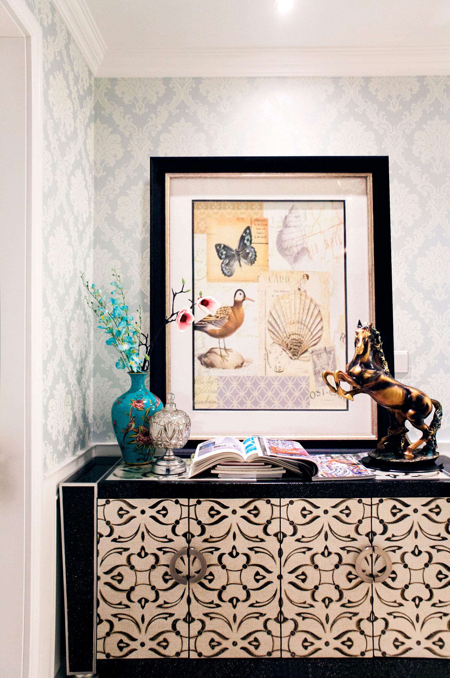 清新美式三居玄关装饰图片