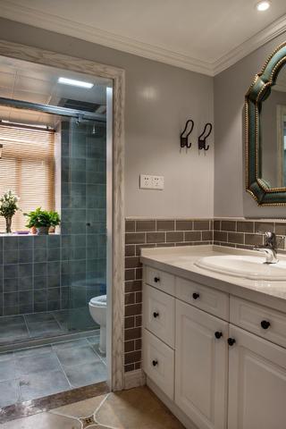 120㎡美式风格家卫生间设计图