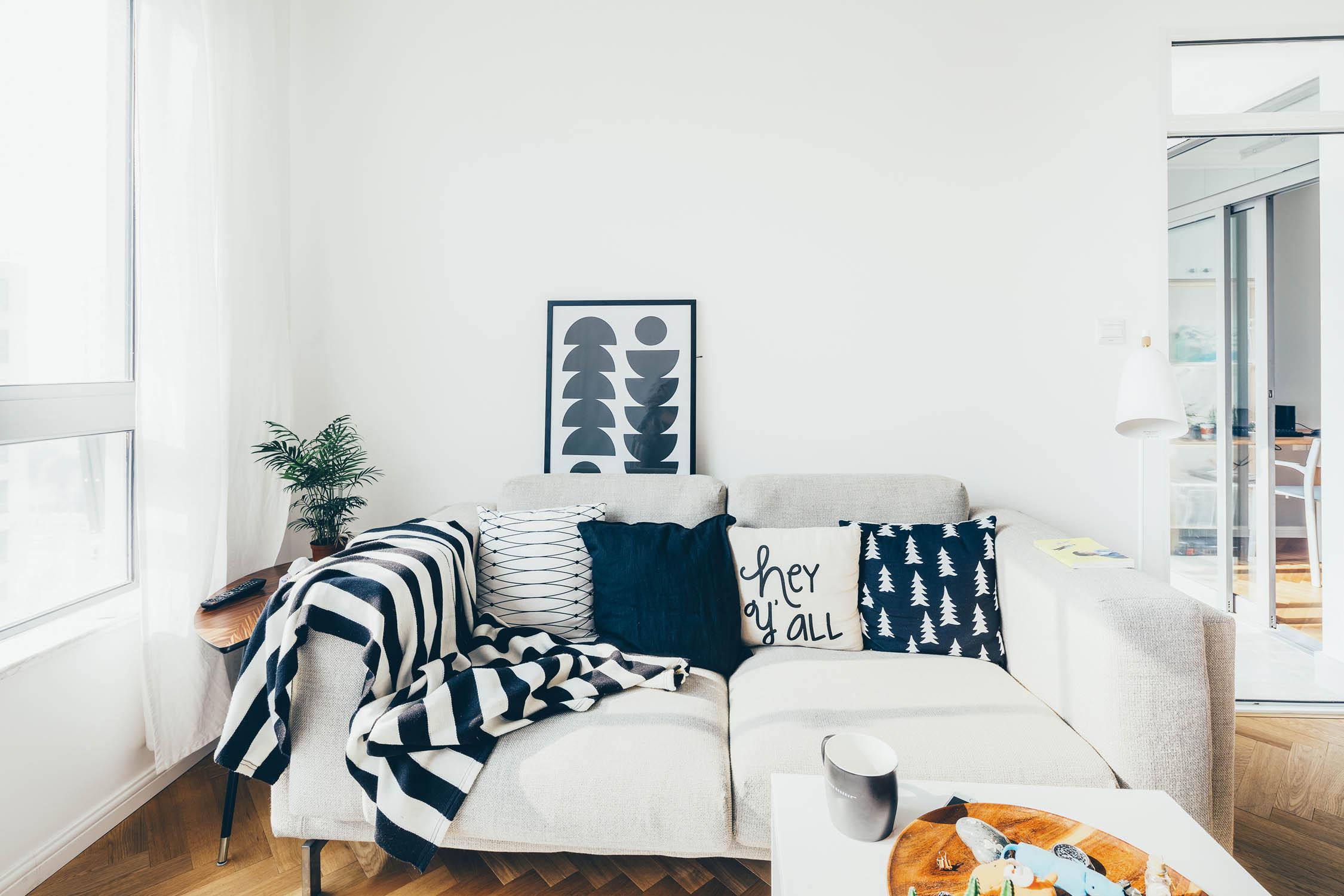 北欧宜家风沙发抱枕图片