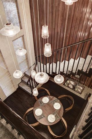 高端复式样板房设计吊顶图片