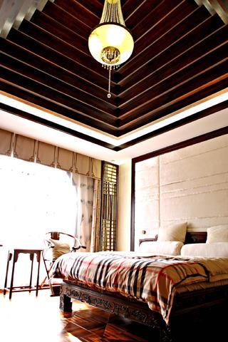 中式别墅装修卧室设计图