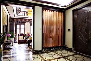 中式别墅装修玄关隔断