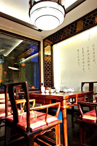 中式别墅装修茶室设计图