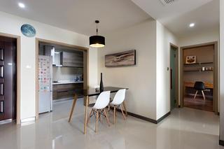 二居室简约风格设计餐厅背景墙图片